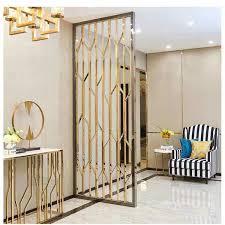 rose gold color metal room divider