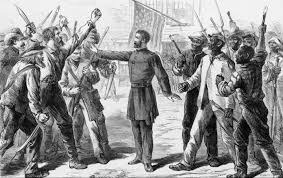 the reconstruction era violence lurking in the southern air the an agent of the dmen s bureau adjudicates a dispute during reconstruction shutterstock