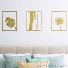 set of 3 wall art plants wall art metal