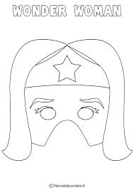 Disegni Supereroi Da Colorare E Stampare Con Maschere Di Supereroi