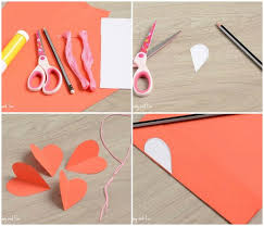 Half Heart Template 3d Paper Heart Craft Easy Peasy And Fun