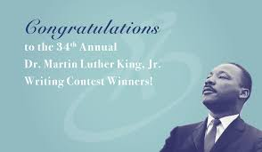 congratulations to the th annual dr martin luther king jr  congratulations to our 34th annual dr martin luther king jr writing contest