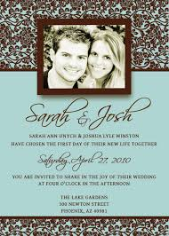 Wedding Invitation Templates With Photo Sample Wedding Invitation Template Sunshinebizsolutions Com