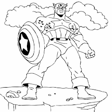 Captain America Coloring Pages Frozen American Soldier Coloring