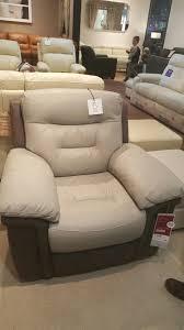 grey electric leather recliner dfs bacio vellutato