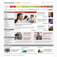 Website Template Newspaper News Portal Website Template 11002