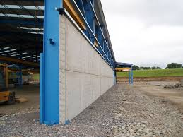 prestressed wall panels attached to outside face of rsj s moore concrete