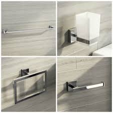 square modern chrome bathroom wall accessories designer toilet roll holder 1 of 11free see more
