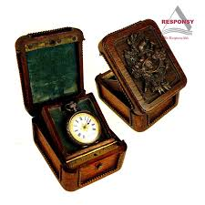 Pocket Watch Display Case Stand Custom design old style wooden pocket watch display case 100 2