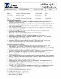 Machine Operator Job Description For Resume Machine Operatorb Description Resume Professional Cnc Machinist S 26