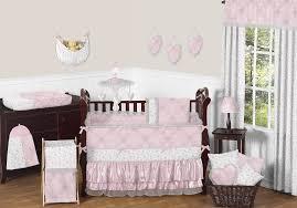 light pink crib bedding sets color