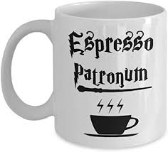 C o f f e e 3. Amazon Com Funny Magic Coffee Mug Espresso Patronum Harry Potter Wizard Spell Coffee Mug Gag Gift Idea For Men Women Brother Sister Colleague Home Office Co Worker 11oz White Ceramic Sturdy Tea Cup