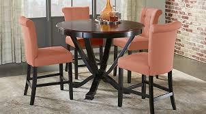 round kitchen table set. Orland Park Black 5 Pc Counter Height Dining Set Round Kitchen Table Set