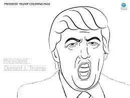 President Donald Trump Kleurplaat Template Templates At