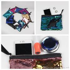 19 15cm sequin clutch bag mermaid sequin purse mermaid makeup bags cosmetic bag glitter sequins coin bags yya166 top cosmetic bags cases