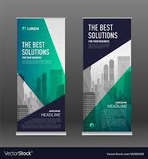 banner design template construction roll up banner design template vector image