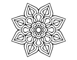 Disegno Di Semplice Fiore Mandala Da Colorare Acolorecom