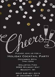 Christmas Cocktail Party Invitations - Large Selection 2018