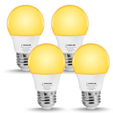Led Yellow Bug Light A15 Led Yellow Bug Light Bulb Lohas Abmer Yellow Bug Light Bulbs Outdoor Indoor 5w 40w Replace Porch Bug Light E26 Base 2000k For Bedroom Nigh