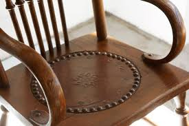 kids rocking chair leather seat
