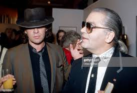 Karl Lagerfeld with singer Udo Lindenberg at the opening of his... News  Photo - Getty Images