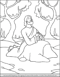 Small Picture Sorrowful Mysteries Rosary Coloring Pages The Agony in the