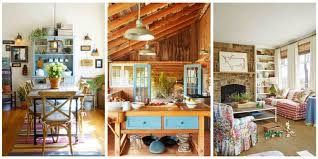From bedrooms to kitchens these simple and rustic rooms inspire