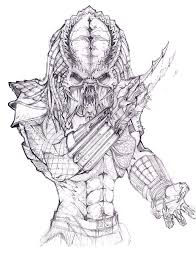 Small Picture Drawn alien predator 2 Pencil and in color drawn alien predator 2