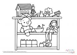 Small Picture Board Game Colouring Page