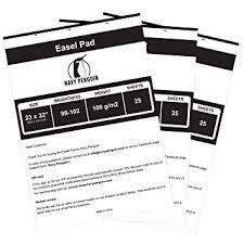 Easel Flip Chart Paper Easel Pad 3 Pack Flip Chart Paper 25 Sheets Pack Size