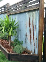 Corrugated Metal Privacy Fence Construction Rustic 8 Best Corrugate