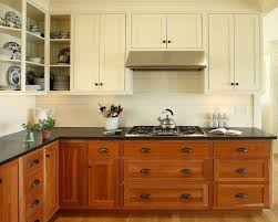 Fine Painting Cherry Kitchen Cabinets White Upper With Wood Intended Design Decorating