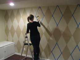 Small Picture How to paint a diamond pattern on your wall Maison Dor Interior