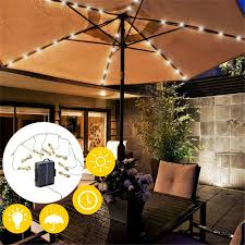 104led patio umbrella lights waterproof