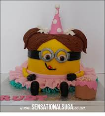 Girl Minion Cake Sensational Suga