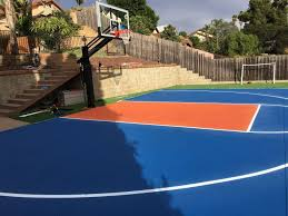photo of perfect striping san go ca united states backyard basketball court