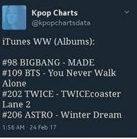Kpop Charts Itunes Ww Albums 98 Bigbang Made 109 Bts You