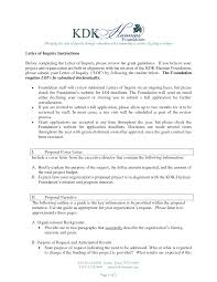 Format Of Letter Of Enquiry How To Write A Letter Of Inquiry For Grant Application 21