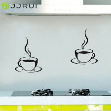 Small Picture Aliexpresscom Buy 2 Coffee Cups Kitchen Wall Stickers Cafe