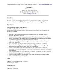 Resume Objective Examples Sample ...