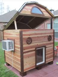air conditioning dog house. custom dog house complete with a small air conditioner! conditioning