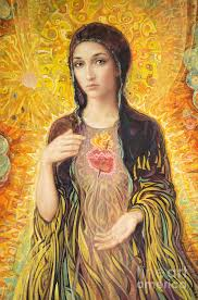 immaculate heart of mary painting immaculate heart of mary olmc by smith catholic art