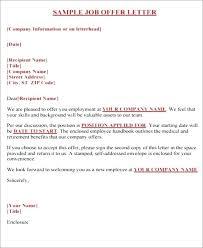 Formal Job Offer Template Job Offer Template Word Job Offer Letter Template Word Doc