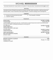 Stock Broker Resume Sample Broker Resumes Livecareer