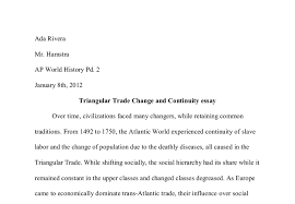 triangular trade change and continuity essay a level history document image preview