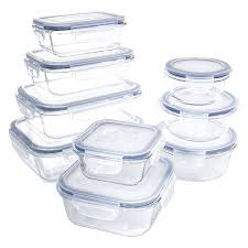 Glass Food Storage Containers With Locking Lids Adorable 32 Piece Glass Food Container Set With Locking Lids BPA Free