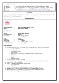Operations Employee Resume Tapadhir