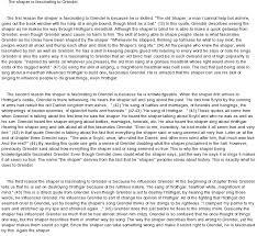 sample essay about grendel essay grendel essay