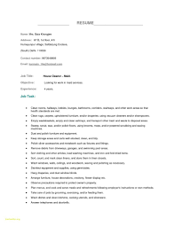 Best Of Housekeeping Resume Examples Exampl Sevte