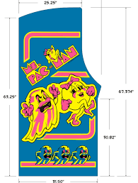 Ms Pacman Cabinet Ms Pac Man Stencil Set W Kickplate Escape Pod Online